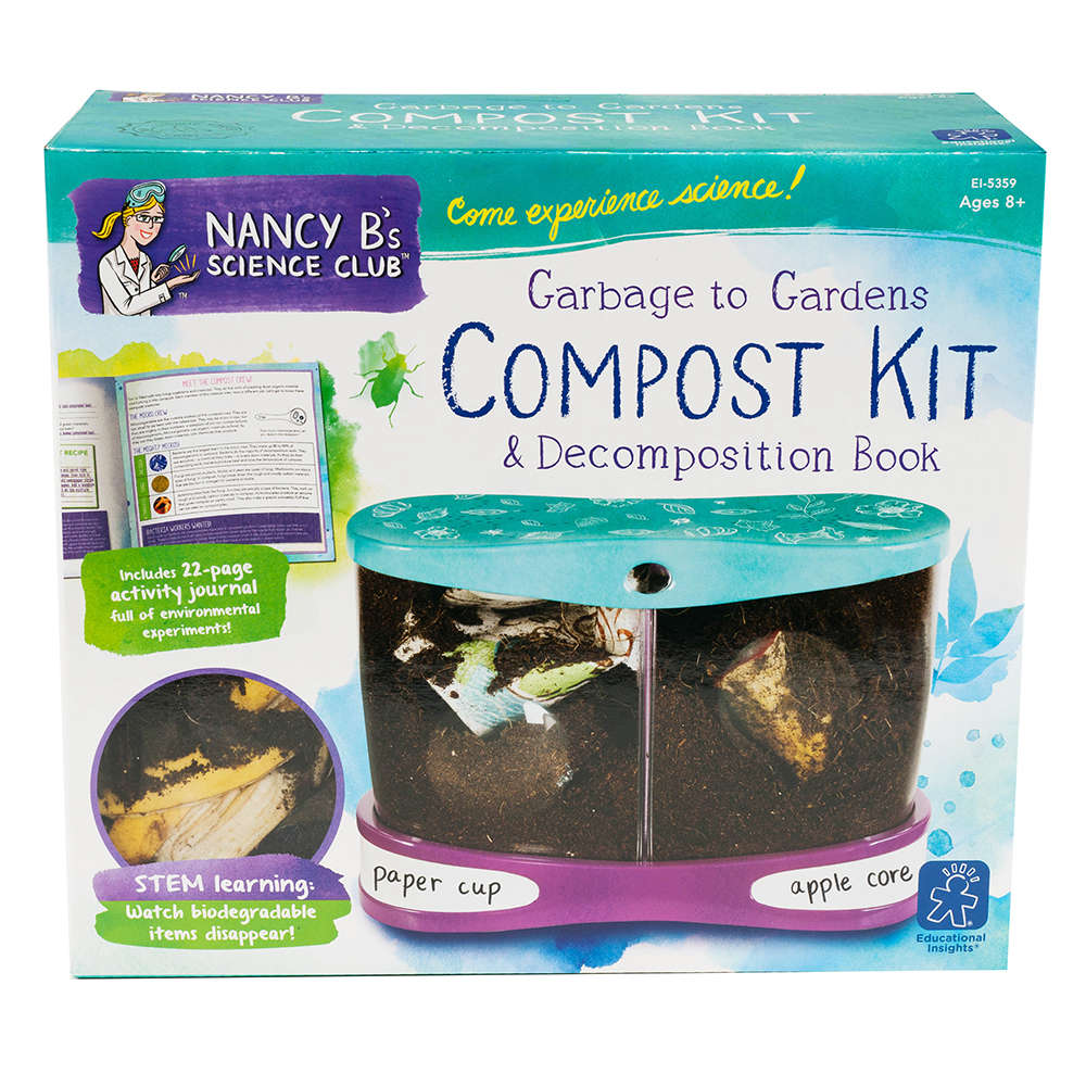 Educational Insights Nancy B's Science Club Garbage to Gardens Compost Kit  & Decomposition Book