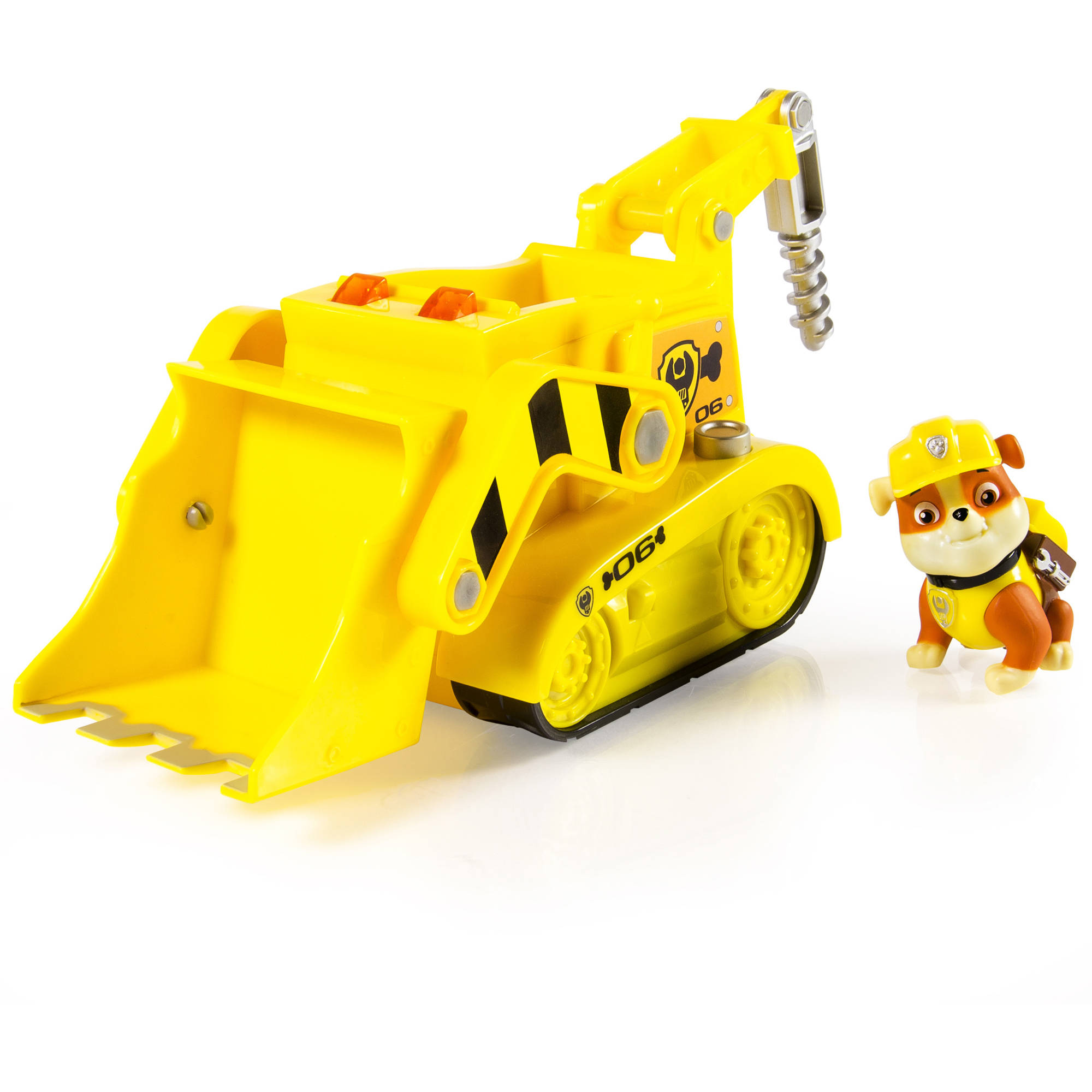 <div>Paw Patrol Rubble's Lights and Sounds Construction Truck Vehicle with figure< div>... by Spin Master Ltd