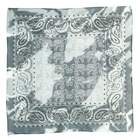 Bohemian Elephant Print Paisley Bandana ()
