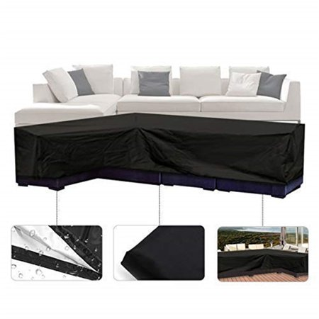 Outdoor Garden Furniture Cover, 100% Waterproof Winter Storage Cover Rattan Wicker Furniture Sofa Covers,
