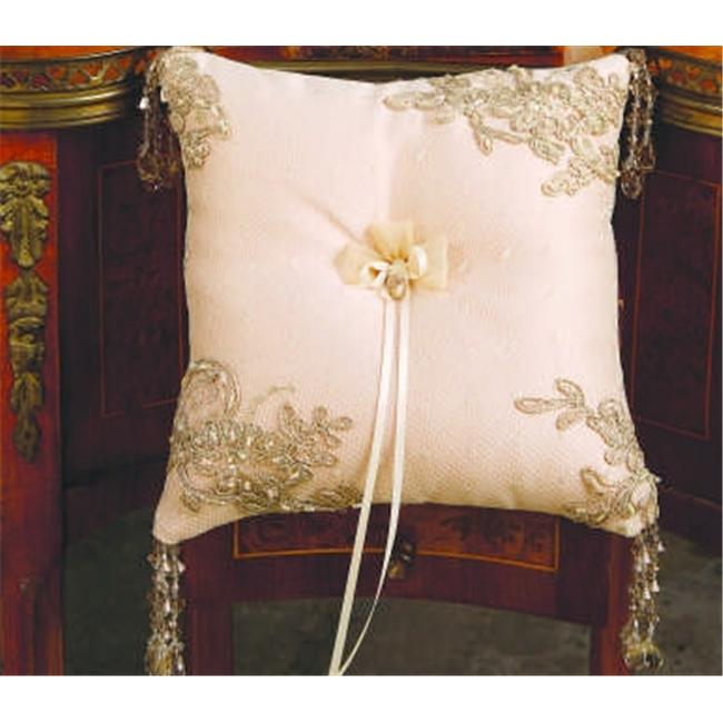 Beverly Clark 226BI Bella Donna Ring Pillow - Ivory