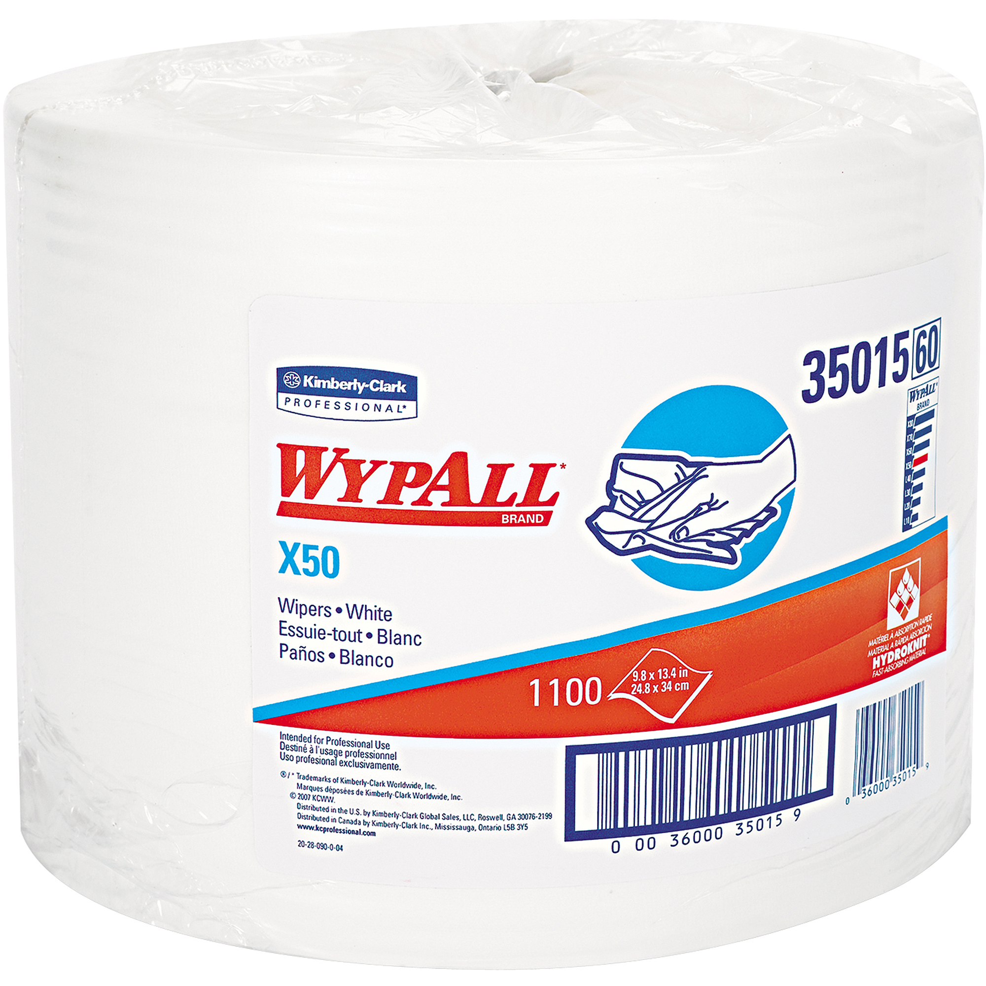 Kimberly-Clark Professional Wypall X50 Wipers, 1100 sheets