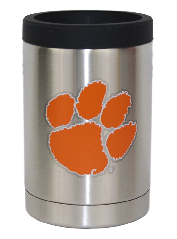 Clemson Tigers NCAA Stainless Steel Insulated 12oz Jacket with Seal by Gametime Sidekicks