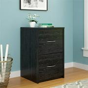 Ameriwood Home Canal 2-Drawer File Cabinet, Black Oak
