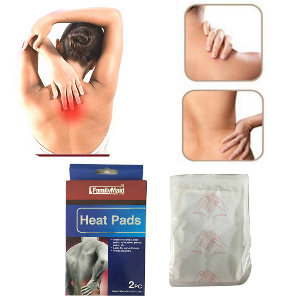 10 heat pads pain relief therapy press hot pack wrap air activated neck shoulder walmartcom