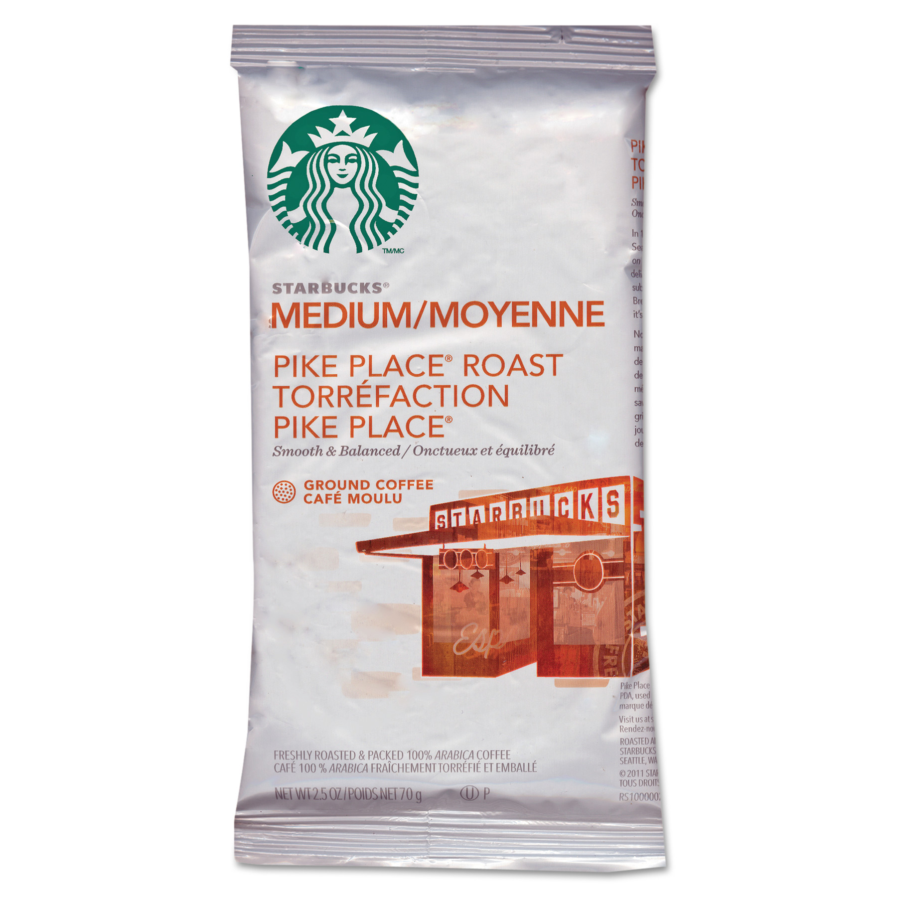 Starbucks Coffee, Pike Place, 2.5oz, 18 Box by STARBUCKS COFFEE COMPANY
