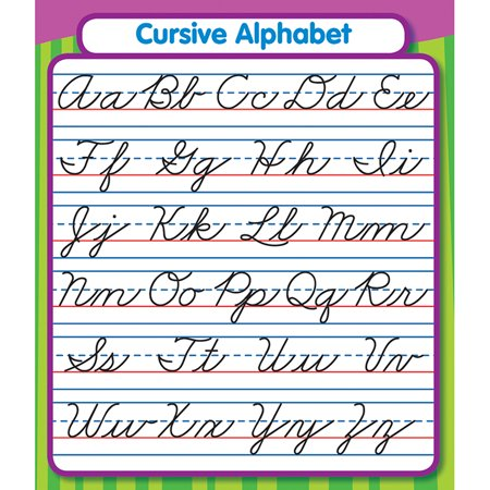 (12 Pk) Cursive Alphabet Stickers