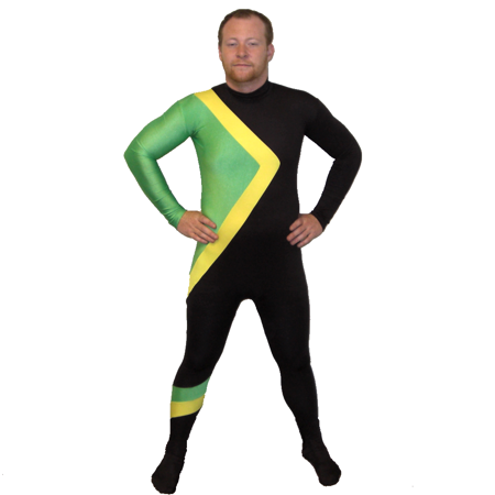 Jamaican Bobsled Team Costume Jamaica Spandex Runnings Suit Movie Group Cool - X Men Group Costume
