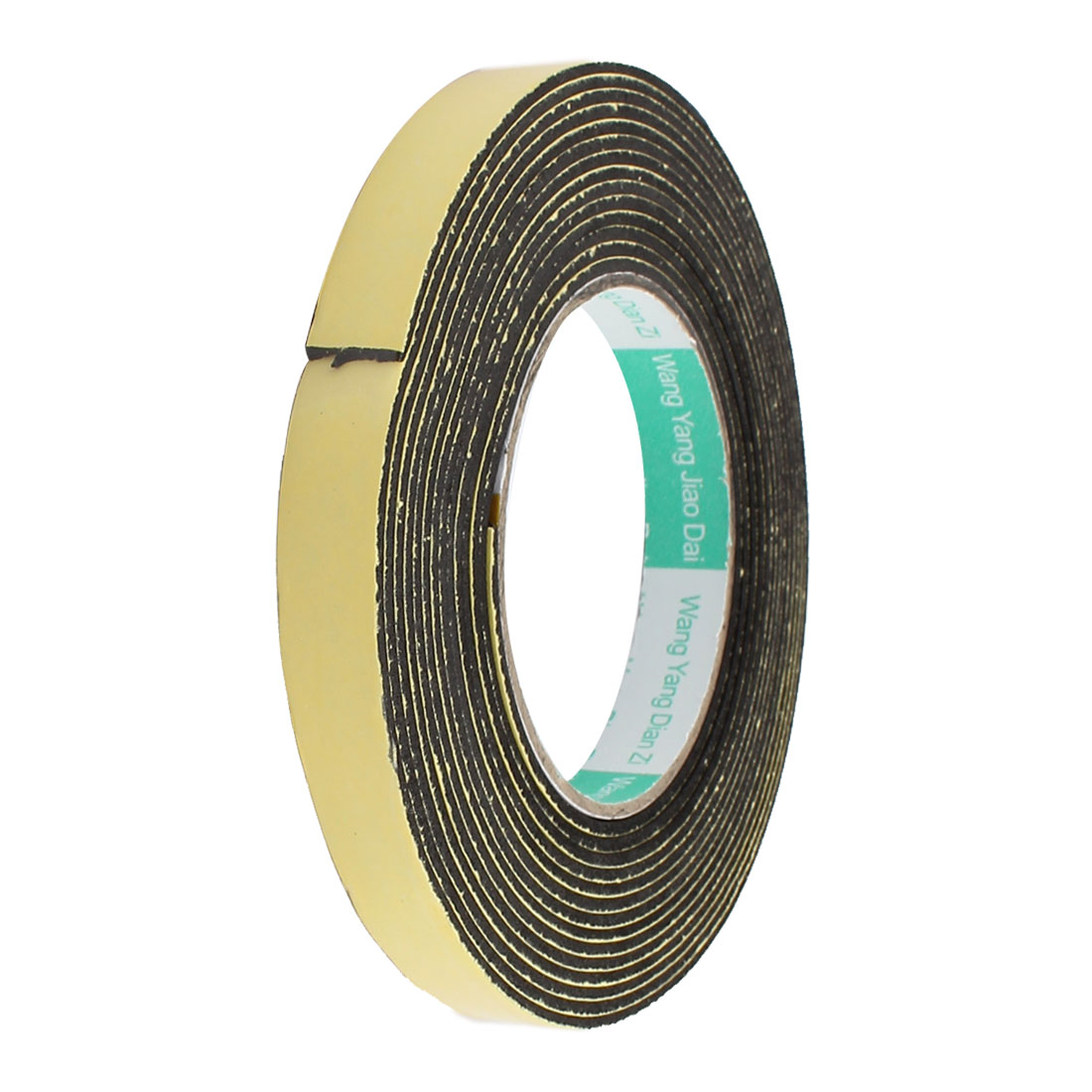 15mm Width 2mm Thick Single Sided Sealing Shockproof Sponge Tape 5m Length