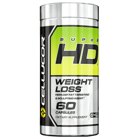 Cellucor SuperHD Thermogenic Fat Burner Weight Loss Supplement, 60