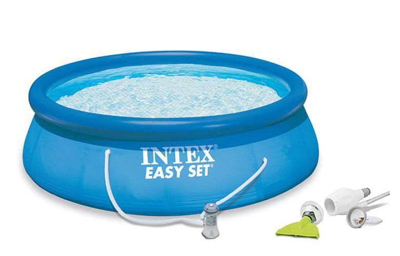 "Intex 15' x 48"" Easy Set Swimming Pool Kit w  1000 GPH Filter Pump & Skooba Vac by Intex"
