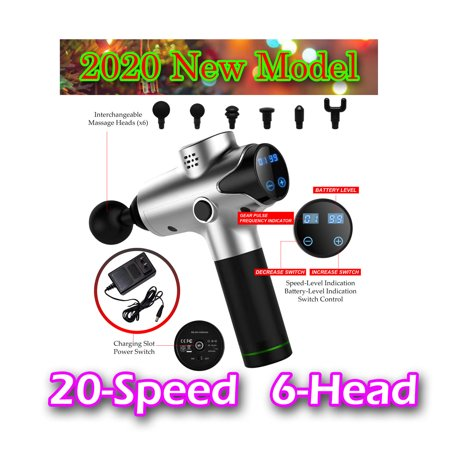 2020 New Design Cordless Massage Gun Carry Case Muscle Tension Relief 20 speed