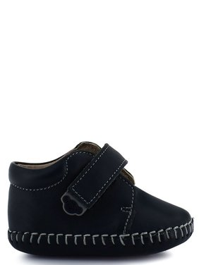 Rilo Boys Blue Leather Hook-And-Loop Strap Casual Booties