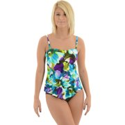 Womens Miraclesuit Swimwear Bandeau Tankini Top Slimming Swimsuit 2 Piece Set