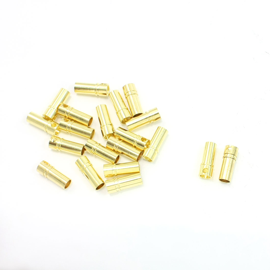20 Pcs Gold Tone Metal RC Cone Female Connector 3.5mm - image 1 of 1