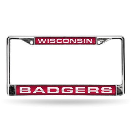 Wisconsin Badgers NCAA Chrome Metal Laser Cut License Plate Frame