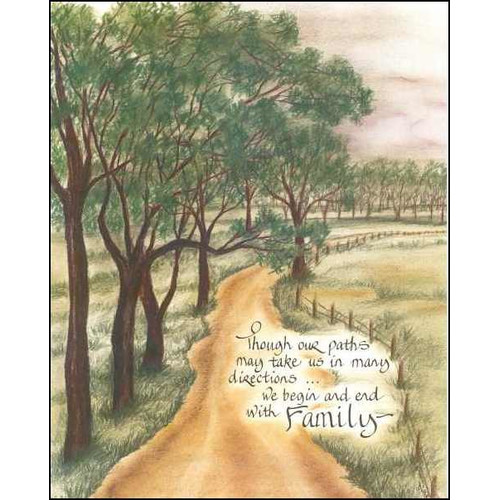 LPG Greetings Life Lines Though Our Paths by Lori Voskuil-Dutter Graphic Art Plaque