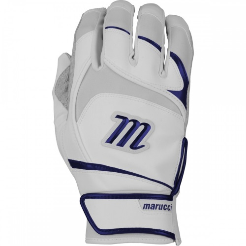 Marucci Pittards Signature Series Batting Gloves MBGSGNP - White/Navy - S