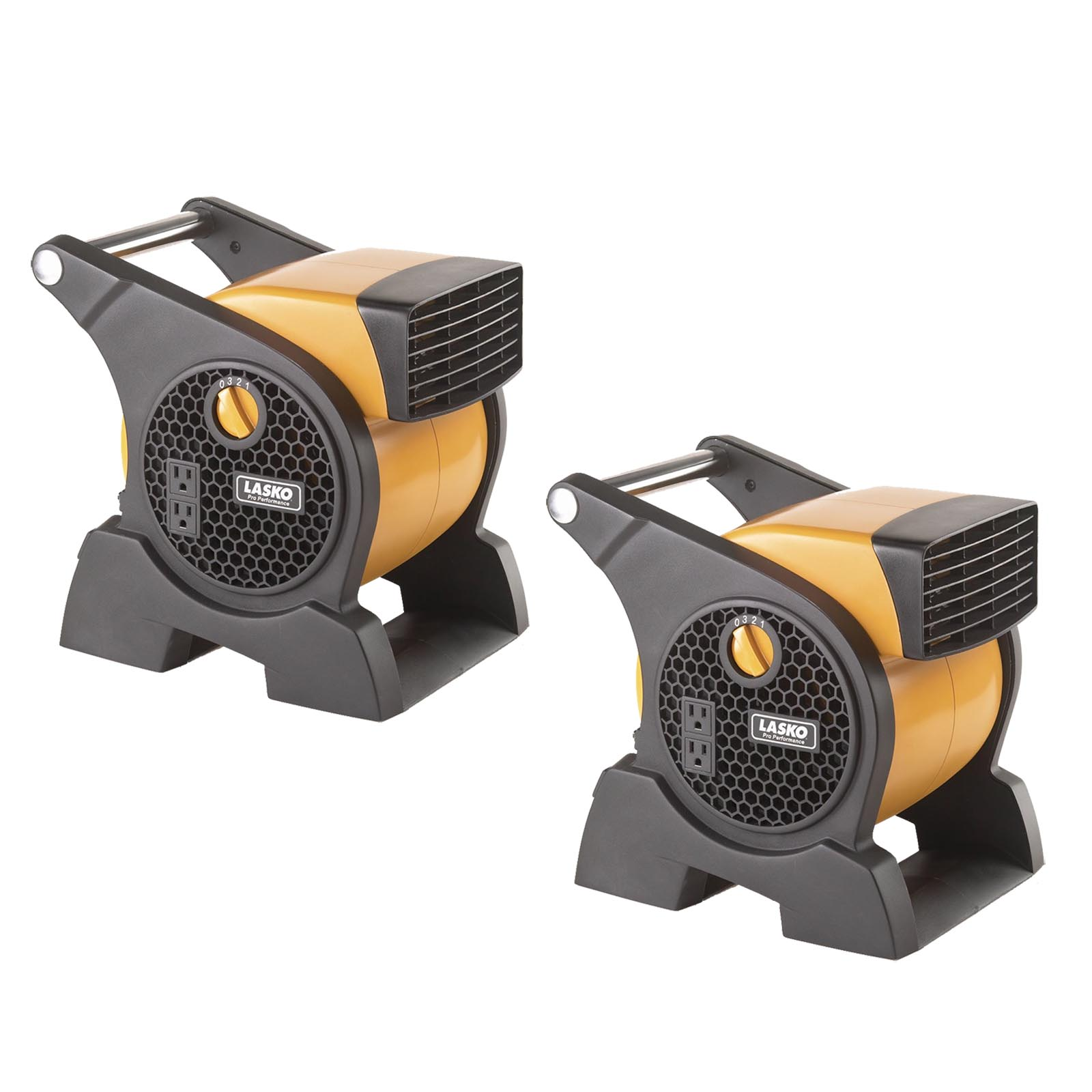 Lasko Pro Performance 3 Speed High Velocity Durable Utility Blower Fan (2 Pack)