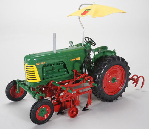 Oliver Super 88 Wide Front Tractor with 2-Row Cultivator ...