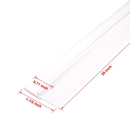 1-1/2-inch x 39-inch PVC Door Sweep Bottom Seal Strip White - image 1 of 4
