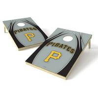 Pittsburgh Pirates 2' x 3' Logo Shield Cornhole Board Tailgate Toss Set - No Size