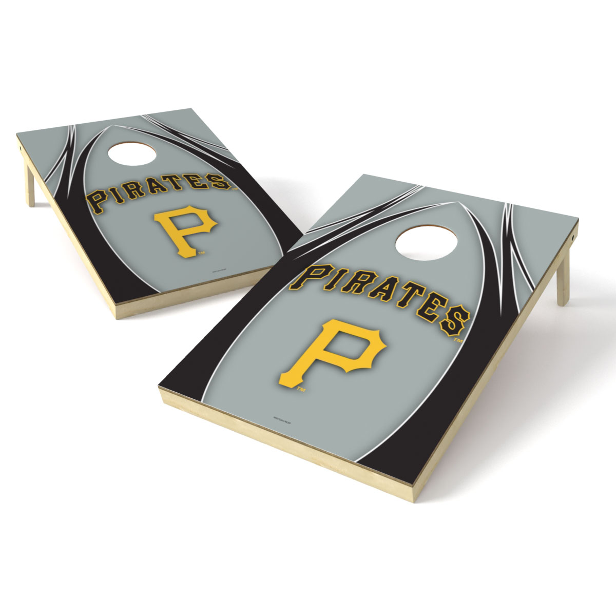 Pittsburgh Pirates 2' x 3' Logo Shield Tailgate Toss Game - No Size