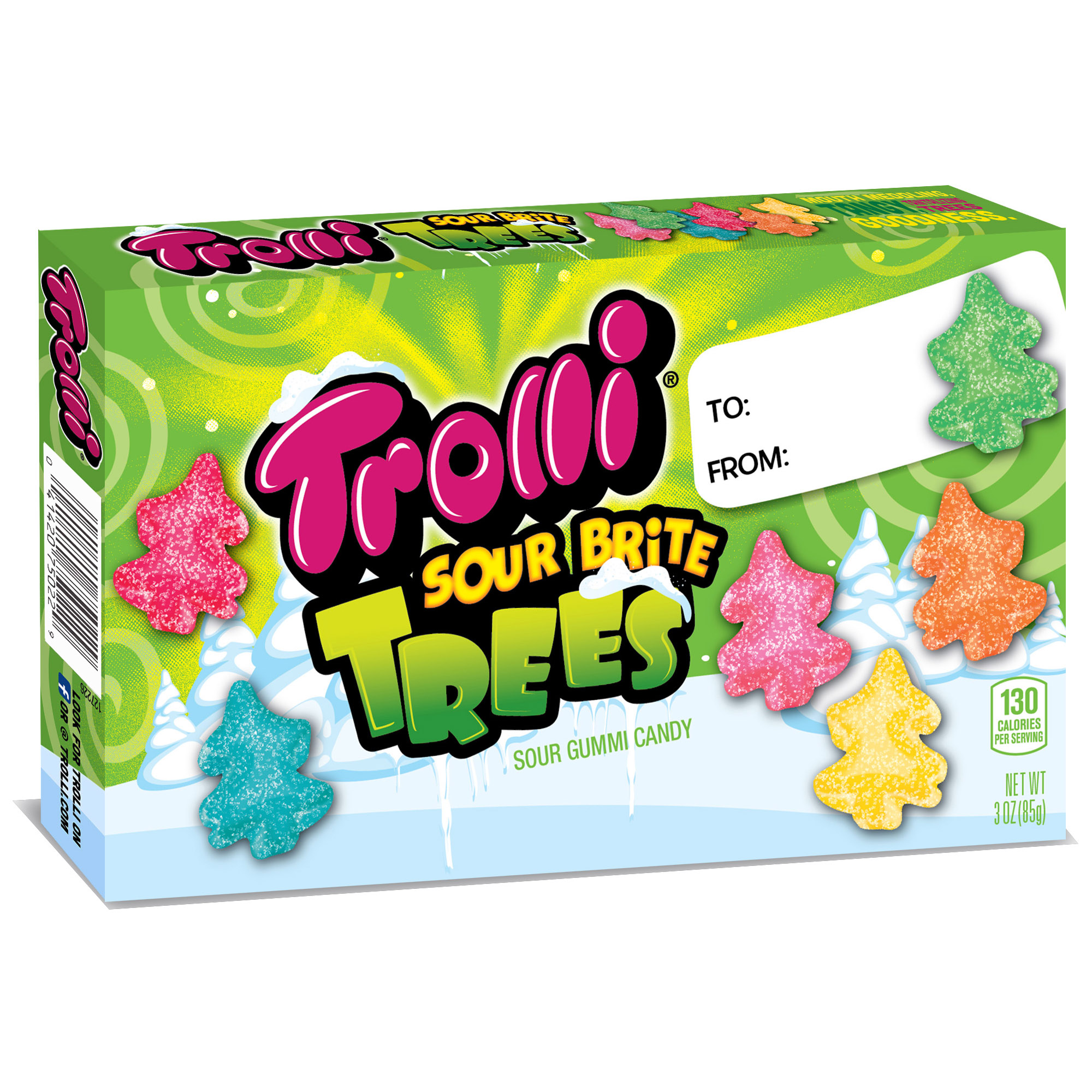 Trolli Sour Brite Trees Gummi Candy, 3Oz.