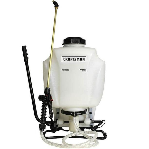 Craftsman Cman 61810 4 Gallon Dual Pump Backpack Sprayer With Nozzles White Walmart Com Walmart Com