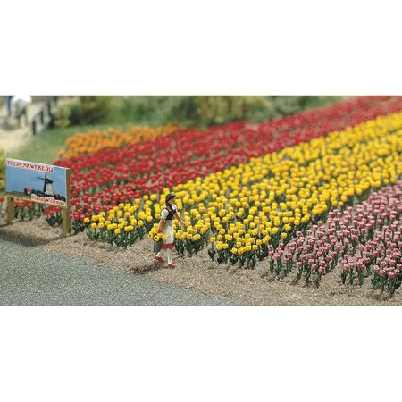 Busch HO Scale Tulips Flowers Model Train Scenery Detail Kit 1206