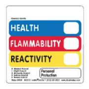 "LABELMASTER Hazcom Label,4""H,4""W,PK500 AV502"