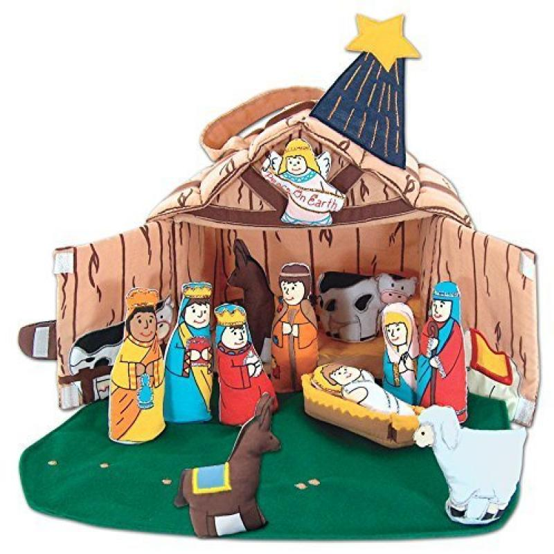 Fabric Nativity Manger Set for Children By Pockets of Lea...