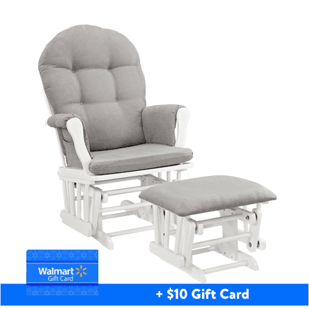 Angel Line Windsor Glider and Ottoman White Finish and Gray Cushions plus FREE $10 Walmart Gift Card - Iron-dragon Coupon