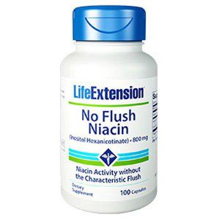 - No Flush Niacin 800 mg Life Extension 100 Caps
