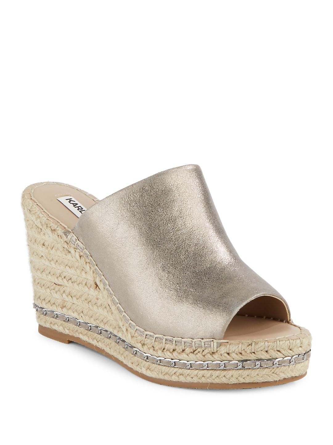 Carina Leather Espadrille Wedges