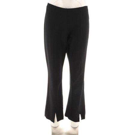 Du Jour Pull-On Ponte Knit Ankle Pants Front Slit A303284