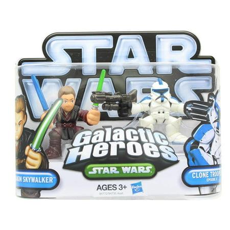 Star Wars Galactic Heroes Mini Figure 2 Pack - Anakin Skywalker & Clone