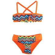Big Chill Little Girls' Multi-Color Zigzag Bikini Two Piece Swimsuit Set