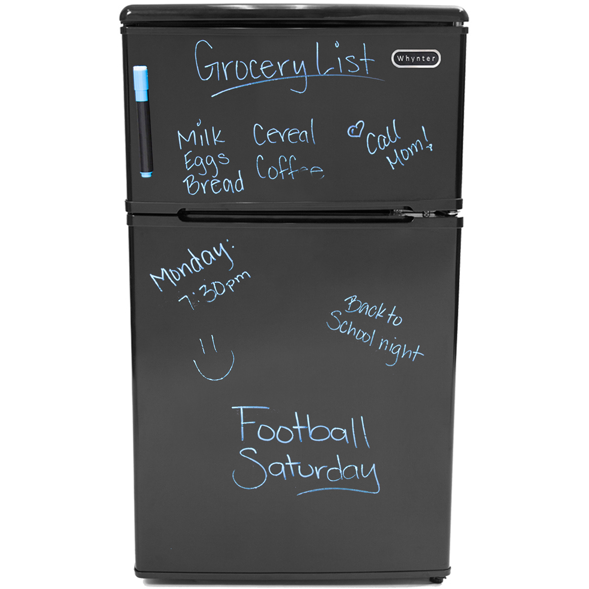 Whynter MRF-310DB Energy Star Compact Refrigerator/Freezer, 3.1 cu ft, Black