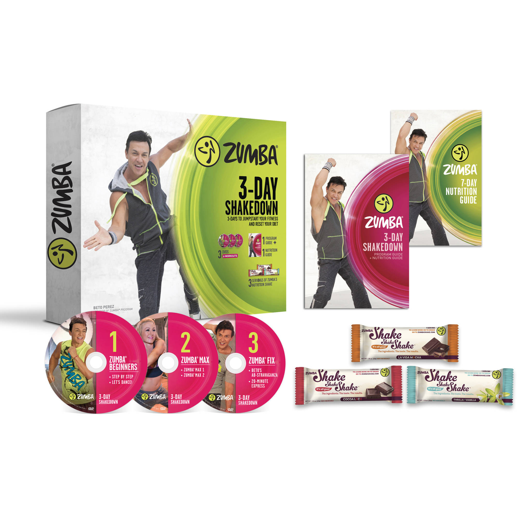 Zumba 3-Day Shakedown Nutrition and Weight Loss Fitness System by