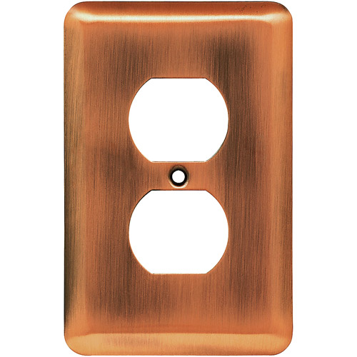 Brainerd Rounded Corner Single Duplex Wall Plate, Available in Multiple Colors