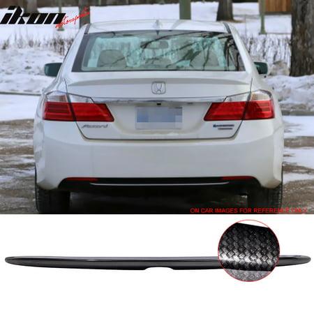 - Fits 13-16 Honda Accord OE Factory CF Trunk Spoiler Wing Carbon Fiber Look