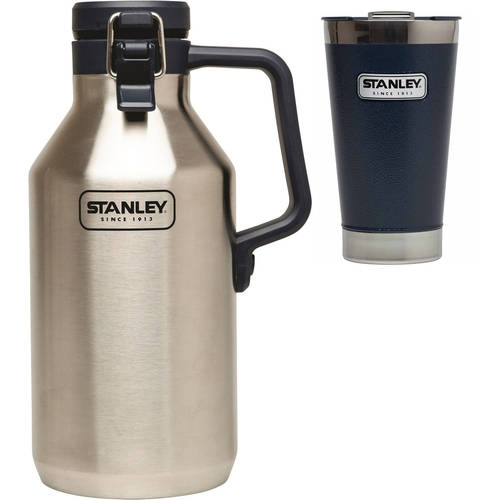 Stanley 16oz Vacuum Pint, Navy with 64oz Growler Value Bundle