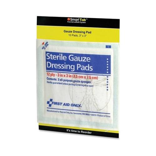 First Aid Only Sterile Gauze Dressing Pads FAOFAE5005