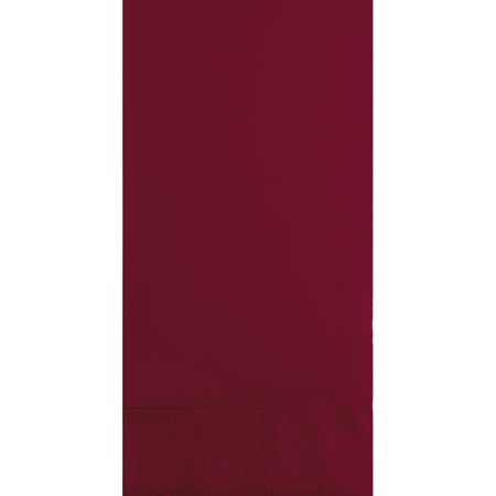 Club Pack of 192 Burgundy 3-Ply Disposable Party Paper Guest Napkins 8