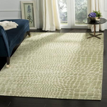 Stewart Wool (Safavieh Martha Stewart Silk Linen Wool .5 MSR5212E Hanging Moss 5'6