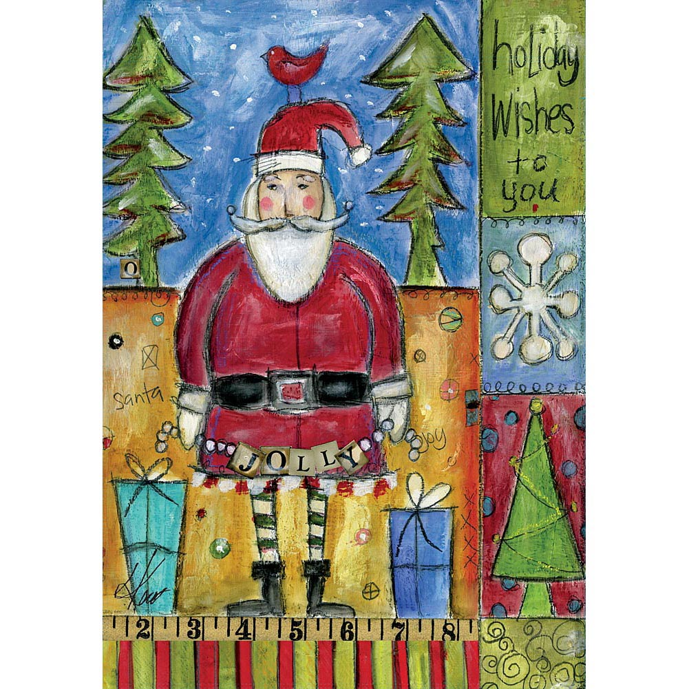 "Well Street by Lang ""Holiday Wishes"" Large Flag, 28"" x 40"""