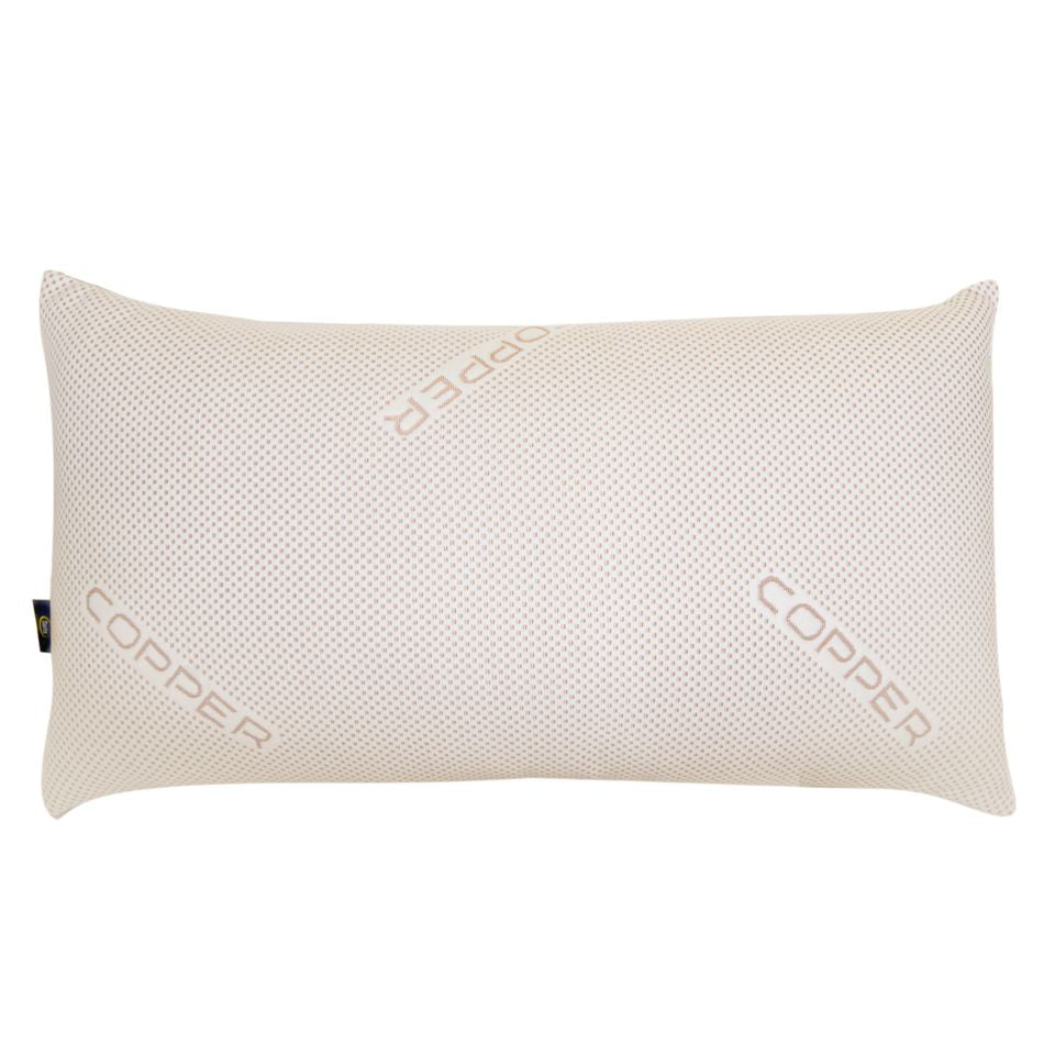Sertapedic CopperLoft Pillow with Copper Infused Cover, Polyester ...