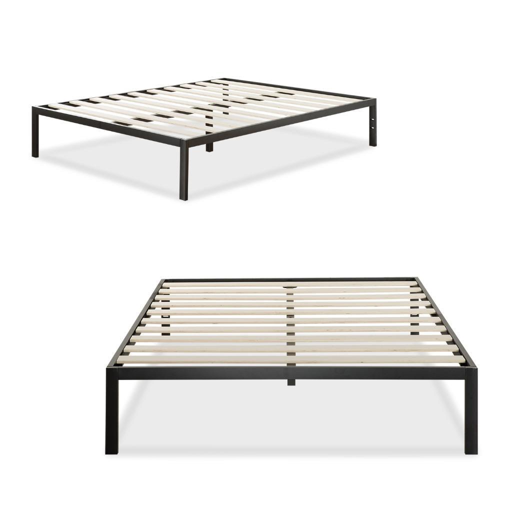 Modern Studio Platform  Metal Bed Frame Mattress Foundation No Boxspring Needed Wooden