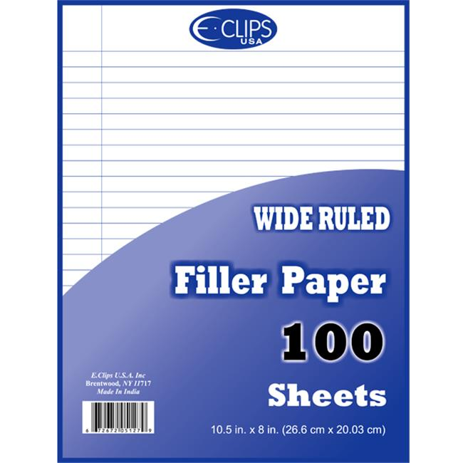 DDI 1276283 Filler Paper - WR - 100 sheets - 10. 5 inch x 8 inch Case Of 60